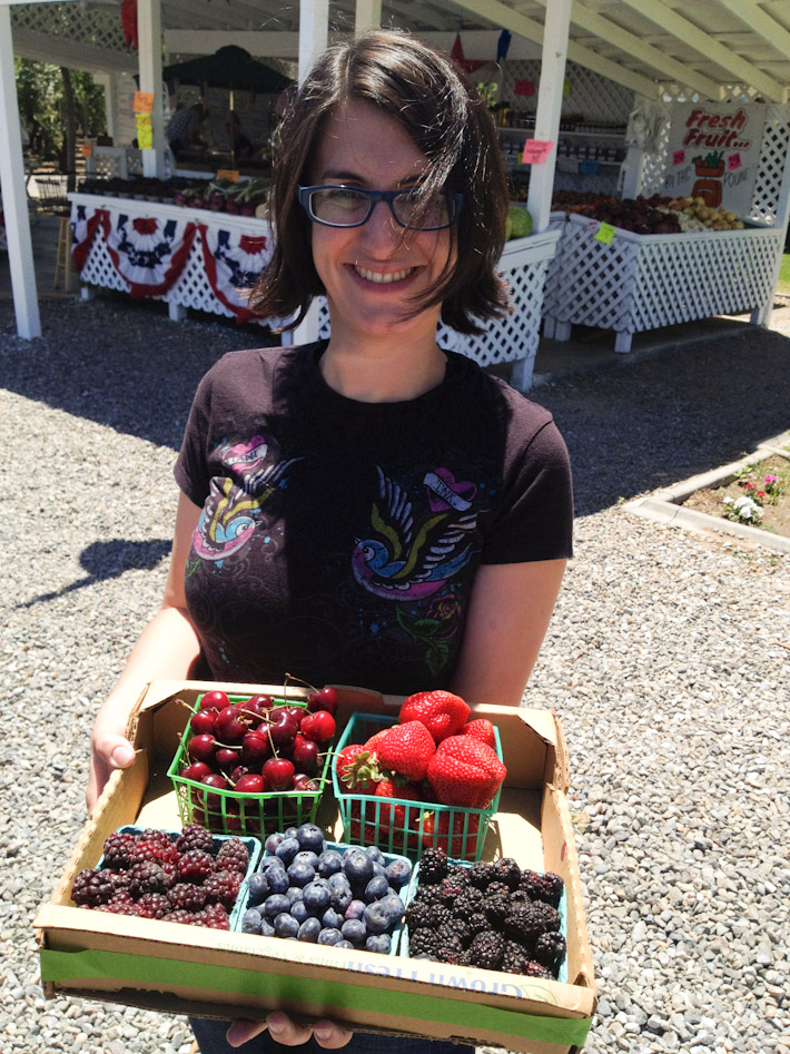 Fresh berries straight from the farm in the California country-side