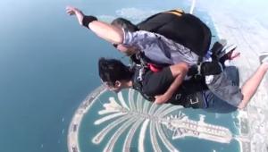 Skydive Dubai, over Palm Jumeirah