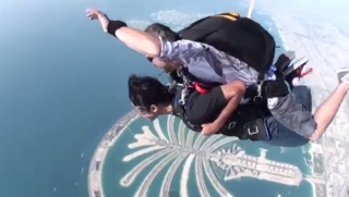 Skydive Dubai, over Palm Jumeirah