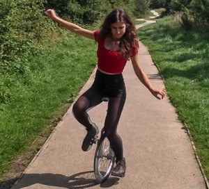 Unicycle practice