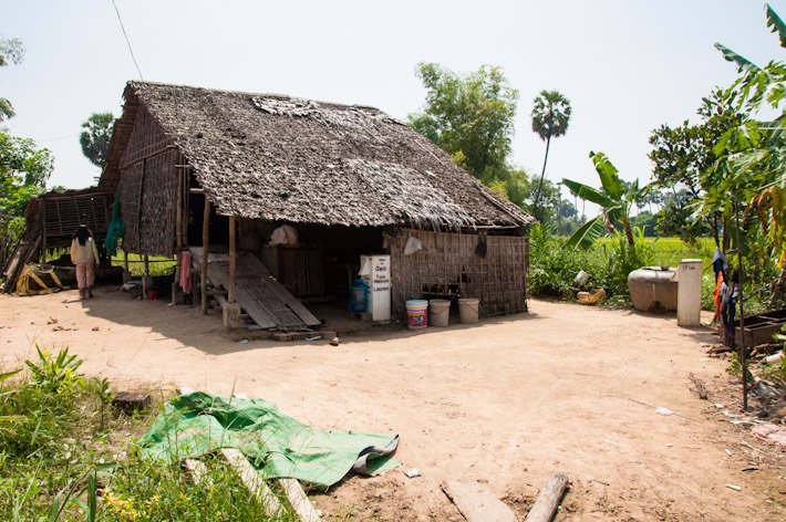 Typical rural house in a village of Siem Reap
