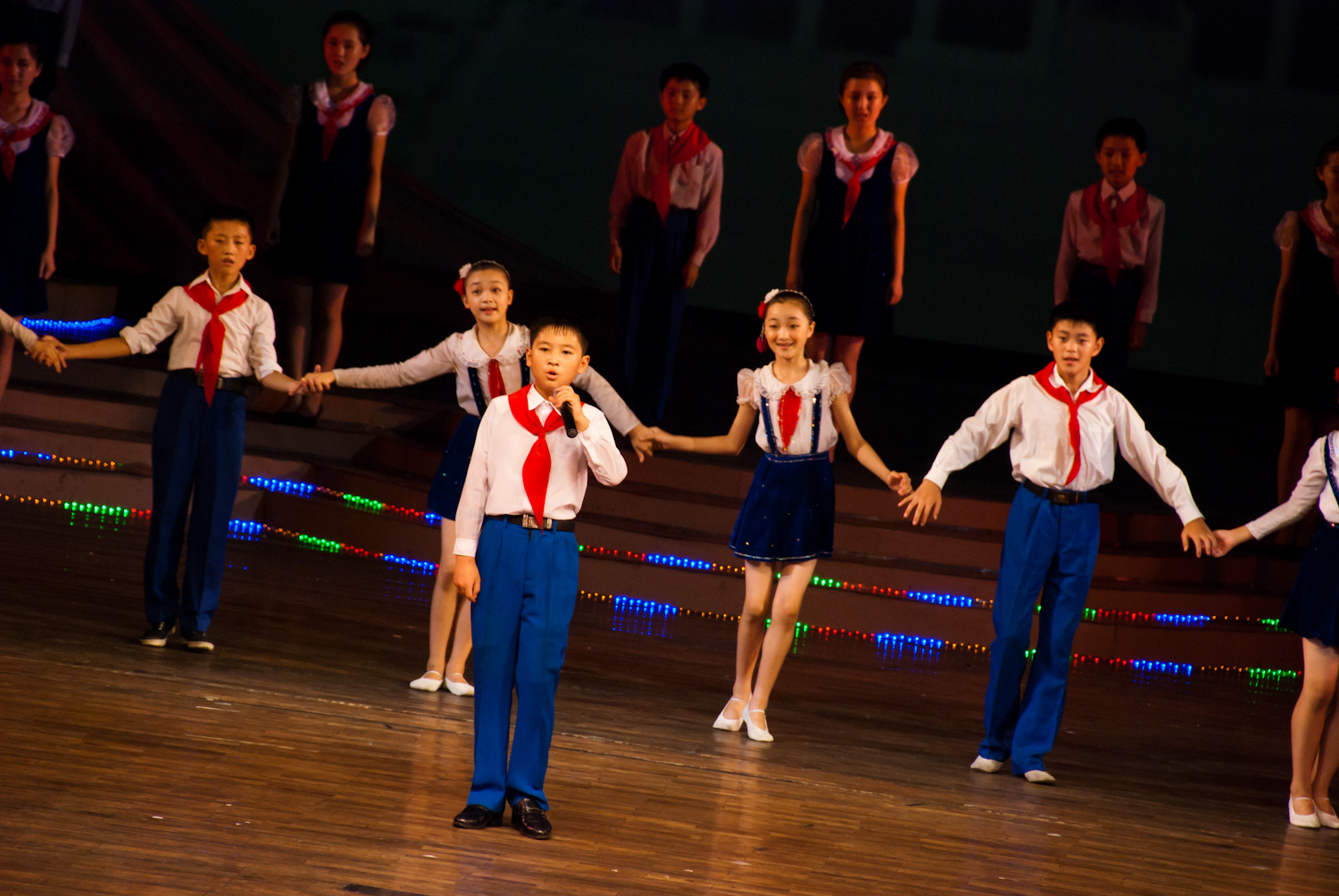 After the tour of the Palace, we were treated with an hour-long concert. North Korean kids and really talented and considering that they can't leave the country to tour, it's good that we come to them...