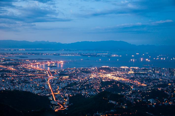 Rio de Janeiro after sunset