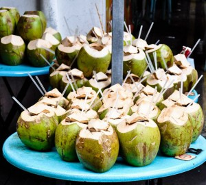 How to eat young coconut