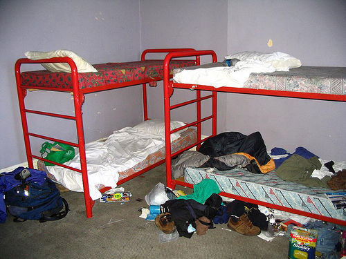 Messed up hostel room