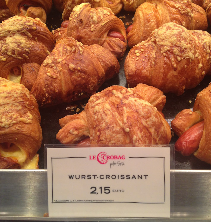 In the land of sausages, even croissants are stuffed with wurst!