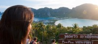 Ko Phi Phi viewpoint at sunset