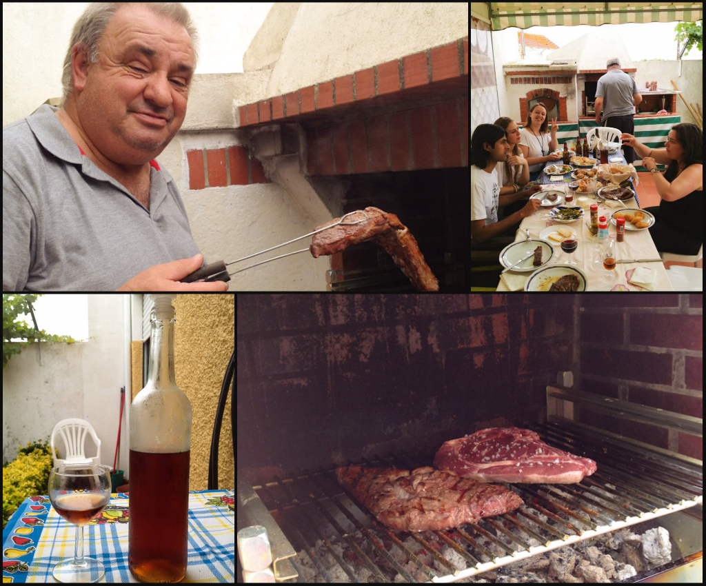 Posta Mirandesa: one of the most loved beef cuts in Portugal, prepared by Agente Faria in Lisbon's South Bank. We also got to try his home-made spirits... but as he is a traffic cop himself, we couldn't drive back home and had to take a ride with someone else!