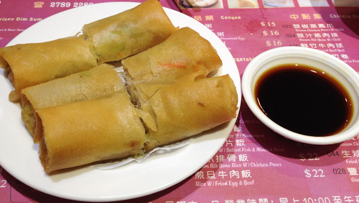 Classic spring rolls: crispy on the outside, warm and soft on the inside