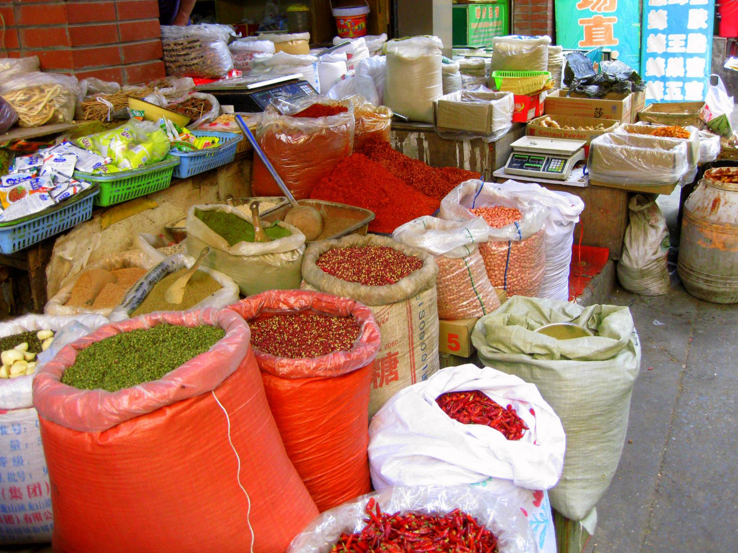 Local food market in Chongqing
