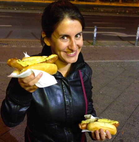 I won't attempt to share the exact name of these sausages because I know Germans are very particular about their sausages and I could mess up. Let's just say these were mighty fine hot dogs! In Berlin.