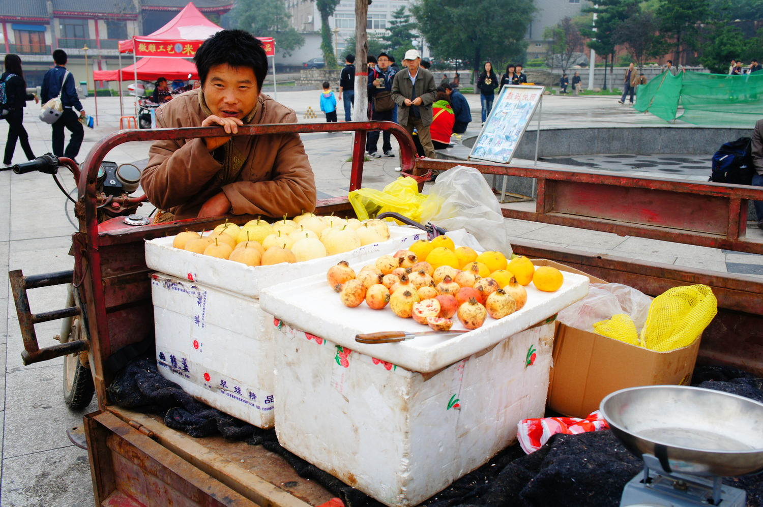 You even have to haggle for fruits and veggies in the street