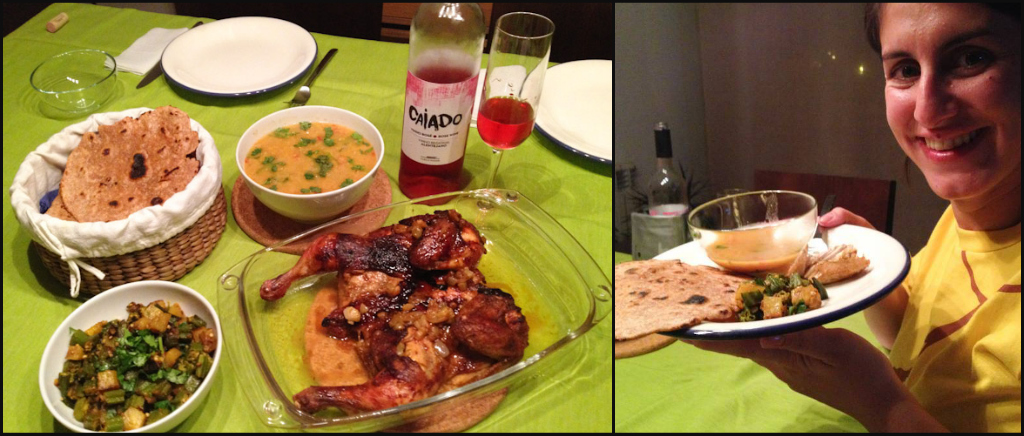 Pairing Indian food with Portuguese rose wine... IT WORKS! :D