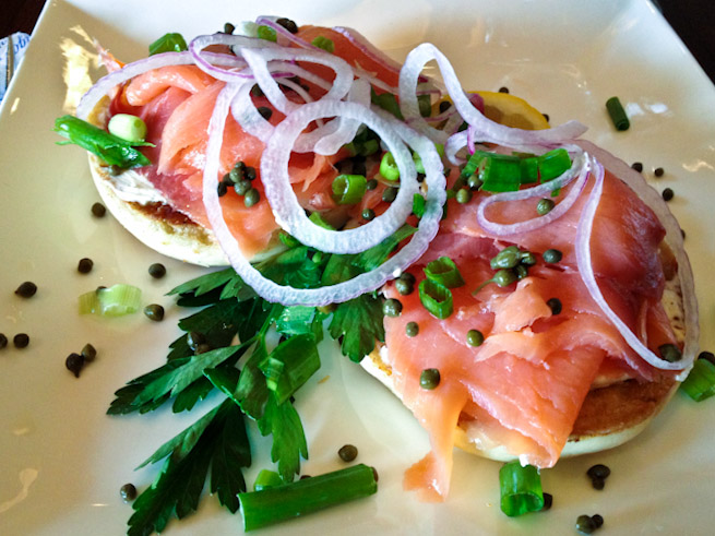 "Smoked Salmon Bagel has ""this is going to be a GREAT day"" written all over it!"