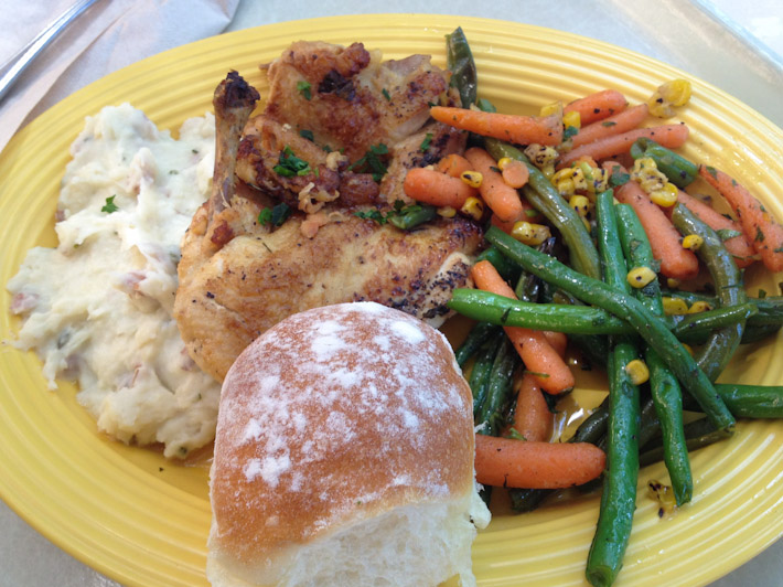 Southern style chicken & mash - our Disneyland lunch!