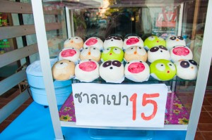 Sweet dim sum in Chiang Mai, Thailand