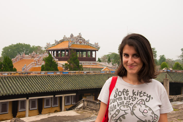 A gloomy day at the citadel of Hue, Vietnam