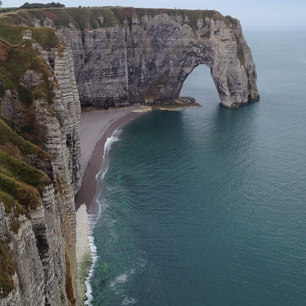 The cliffs and coast at Etretat, Normandy