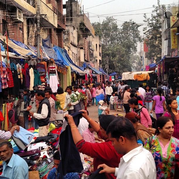 Sarojni Market in Delhi