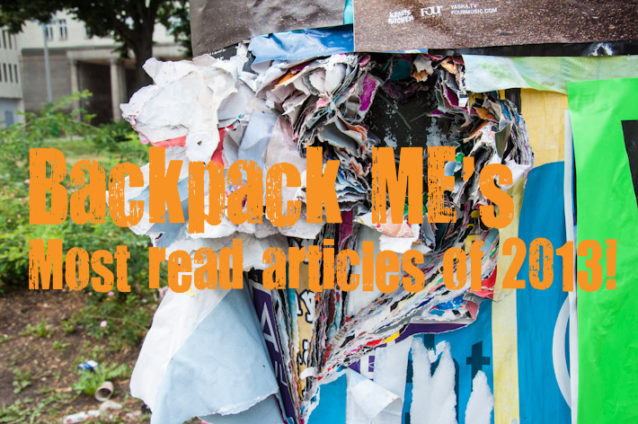 Backpack ME's most read articles of 2013