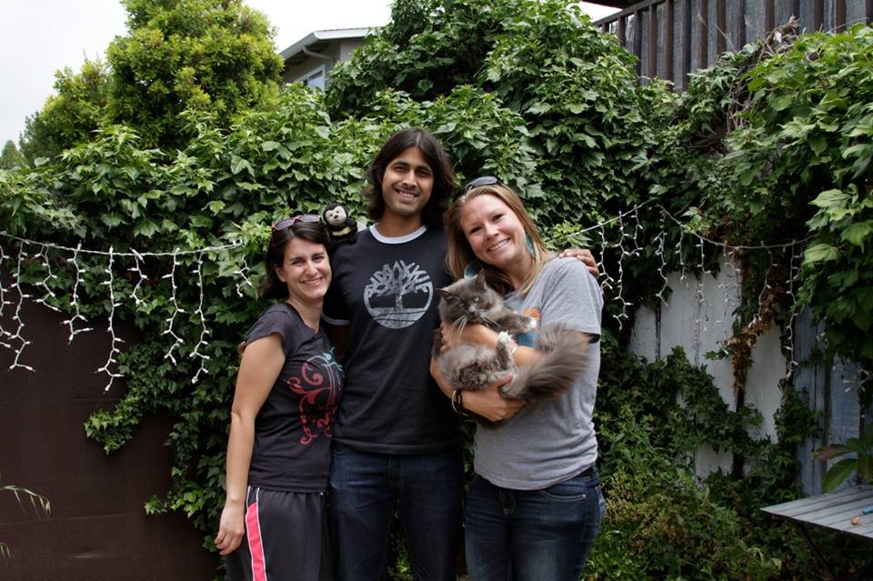 With Sarah and Precious in Santa Cruz, California
