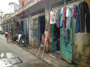 Quaint streets in Ho Chi Minh City