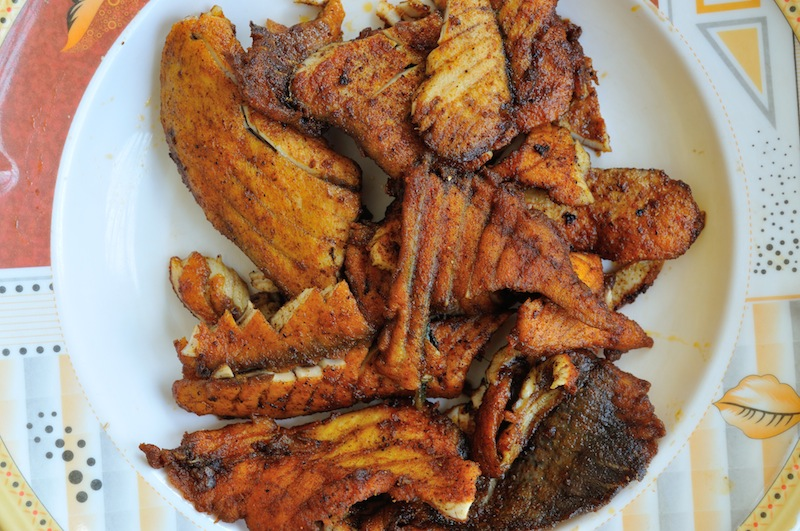 Fried fish in Somaliland, by Shane Dallas