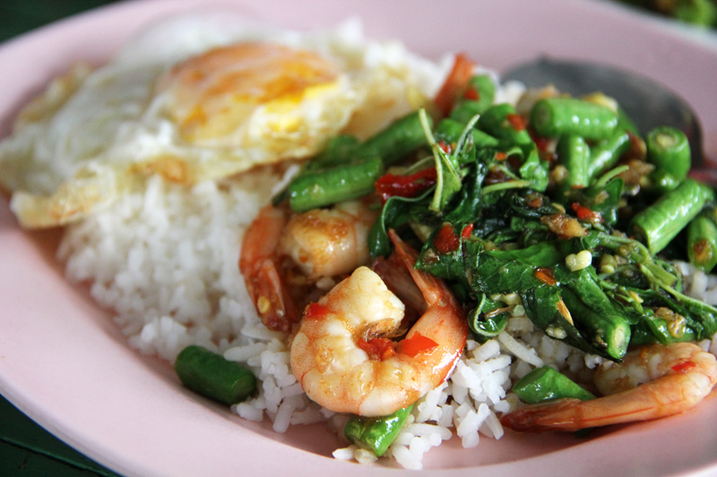 Pad kra pao from Thailand