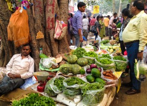 Vegetables in Sarojni Market in Delhi