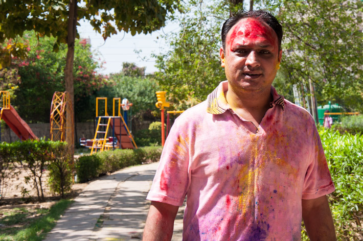 Holi is cooler than a walk in the park...
