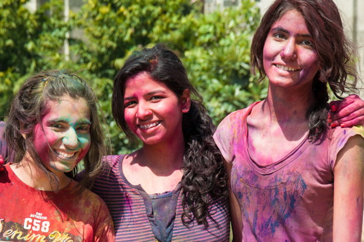 Friendly faces of Holi