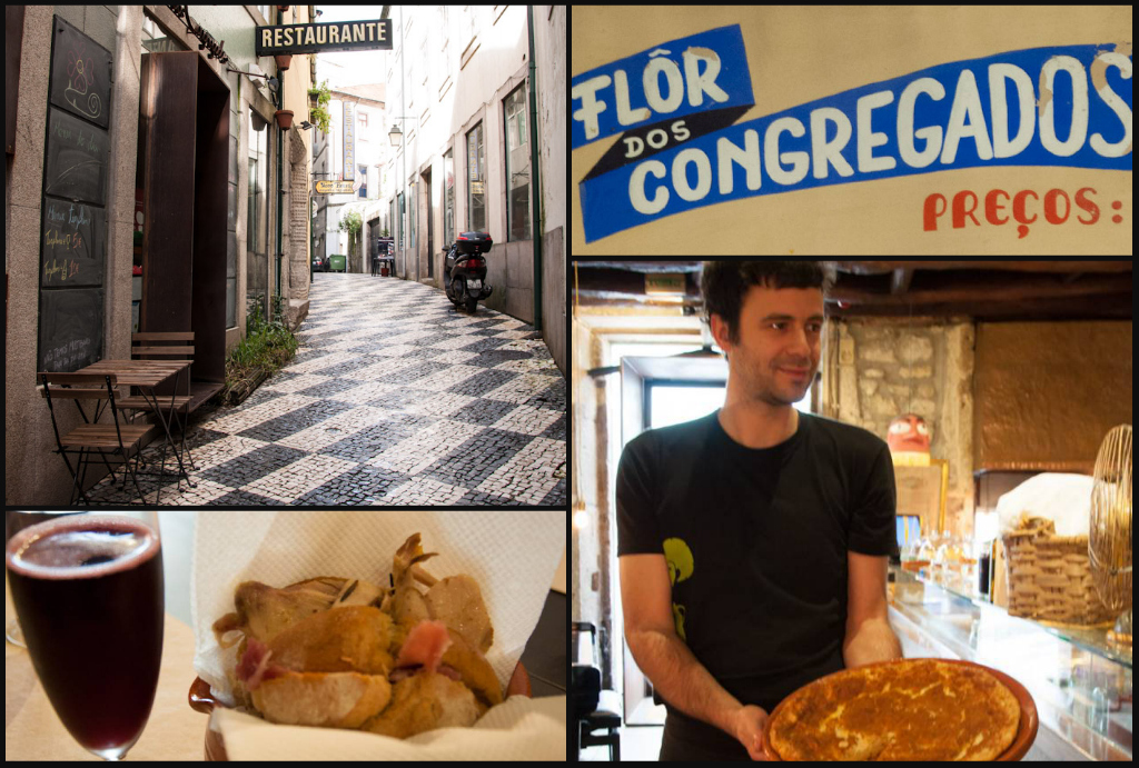 Talking about Portuguese food at Flor dos Congregados, Porto