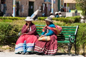 Andean Ladies in Colca Valley, Peru