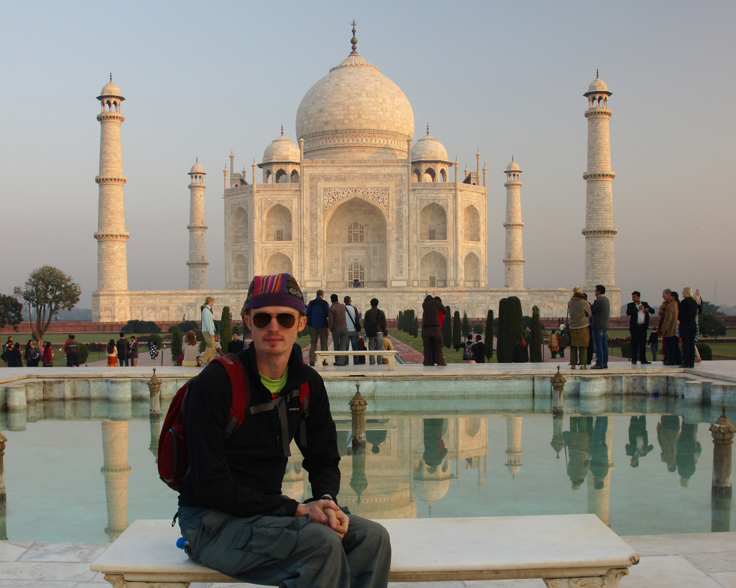 Nomadic Samuel at the Taj Mahal
