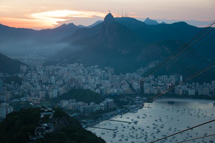 Sunset from atop Sugar Loaf Mountain, Rio de Janeiro