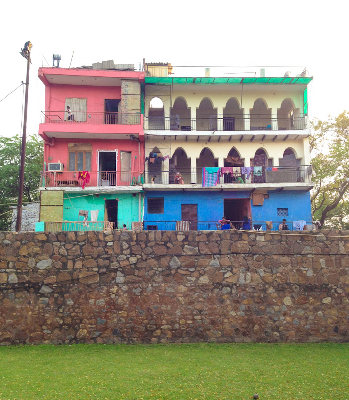 A colorful house overlooking Hauz Khas complex
