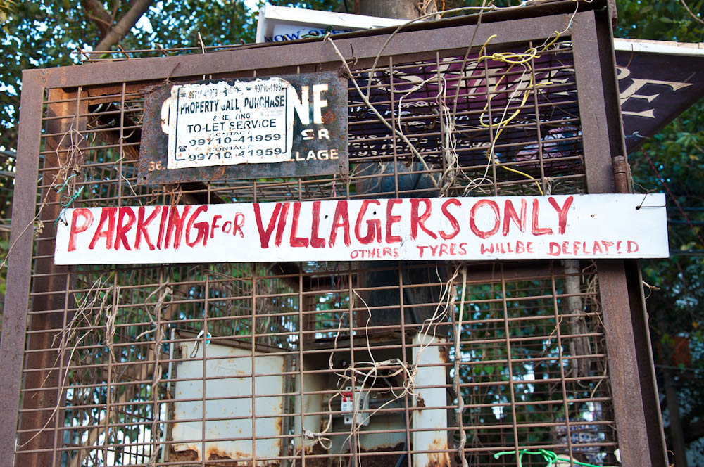 Hipsters: don't you dare taking away the parking at Hauz Khas Village!