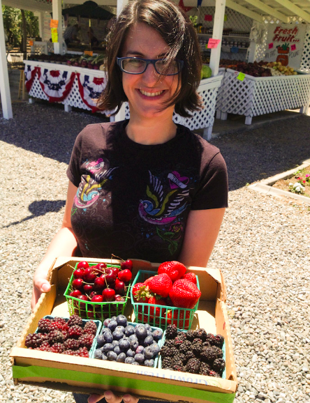 Mouthwatering berries at a farm in California!