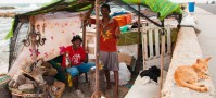 Fishermen in Cartagena de Indias, Colombia