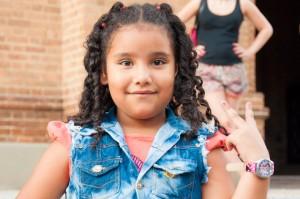 Little Colombian girl posing