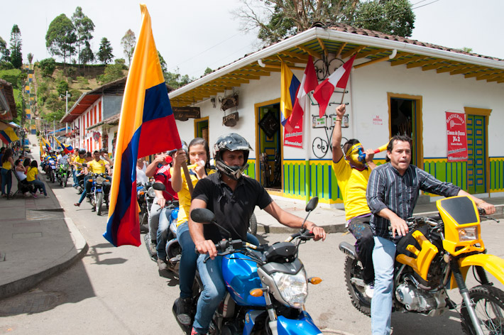 Salento celebrates Colombia's victory against Ivory Coast