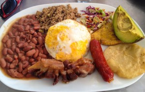 Bandeja Paisa in Cartagena, Colombia