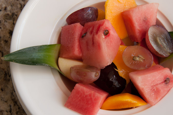 Fresh fruits to get started with breakfast