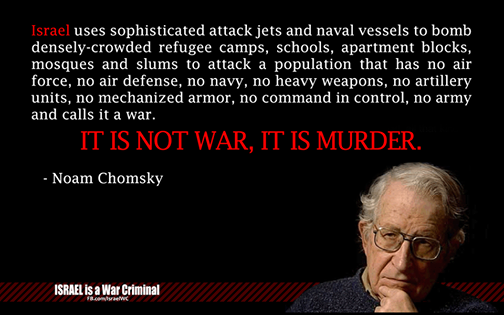 Noam Chomsky on the Israel-Palestine conflict