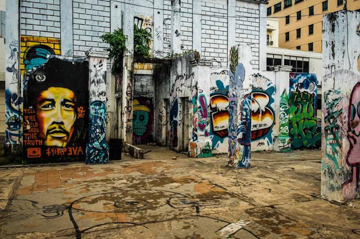 Graffiti in Kota Kinabalu, Borneo