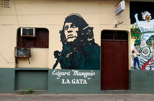 Graffiti of La Gata in Leon, Spain