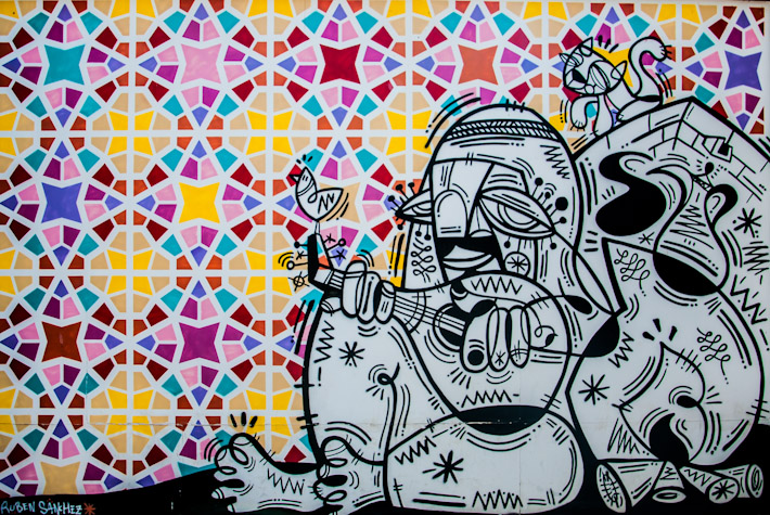 Graffiti in Bur Dubai, UAE