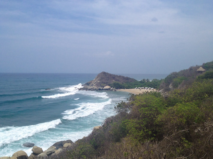Arrecifes Beach in Tayrona