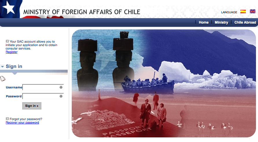 Ministry of Foreign Affairs of Chile website