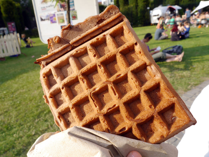Vegan Belgian waffle at the Ghent Festival